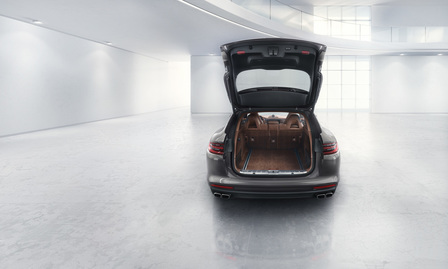 Panamera luggage compartment.